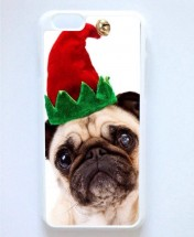 Elf Pug Christmas iPhone 6 Cover