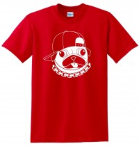 Unisex Pug In Cap T-Shirt (Available in 5 colours)