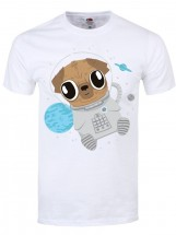 Mens Pug In Space T-Shirt