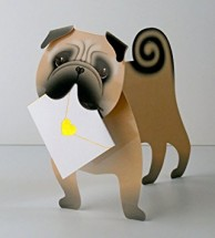Monty The Pug Pop Up Blank Card