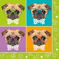 Pug Party Napkins Pack Of 16