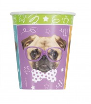 Pug Party Paper Cups Pack Of 16