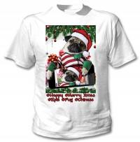 Unisex Funny Pug Selfie Christmas T-Shirt