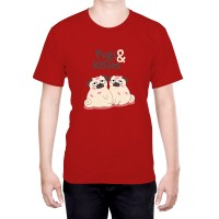 Unisex Pugs & Kisses T-Shirt (Available in 4 colours)