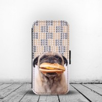 Funny Pug Burger Phone Case For iPhone & Samsung Galaxy Models