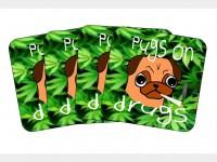 Pugs On Drugs Coaster Set Of 4