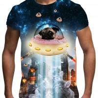 Unique Mens Pug & Kitten T-Shirt