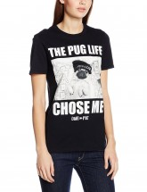 Doug The Pug The Pug Life Chose Me Black Unisex T-Shirt