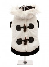 Urban Pup White Quilted Ski Parka Coat