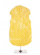 Urban Pup Yellow Polka Dot Waterproof Raincoat