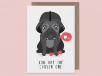 You Are The Chosen One Pug Blank Card