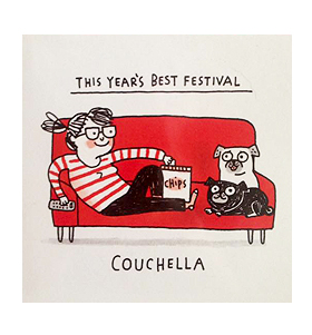 This Years Best Festival Pug Blank Card By Gemma Correll
