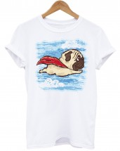 Ladies Superhero Pug T-Shirt