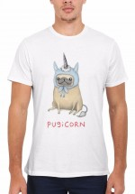 Mens Pugicorn T-Shirt (Available in 14 colours)