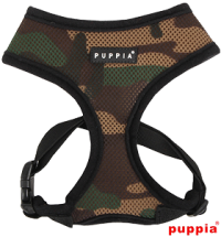 PUPPIA CAMO SOFT HARNESS SIZE LARGE-SALE