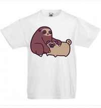 Child's Funny Pug Sloth T-Shirt