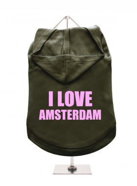 I Love Amsterdam Unisex Hoodie (Available in 4 colours )