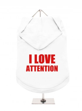 I Love Attention Unisex Hoodie Size XL (Available in 6 colours)