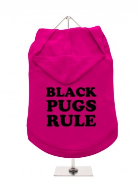 Black Pugs Rule Unisex Hoodie (Available in 5 colours )