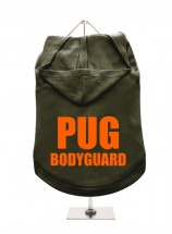 Pug Bodyguard Unisex Hoodie (Available in 7 colours)