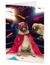Boxer Pug Blank Card