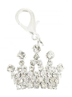 Royal Crown Swarovski Dog Collar Charm (Available in 2 colours)
