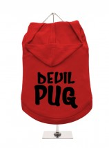 Devil Pug Hoodie  Size XL