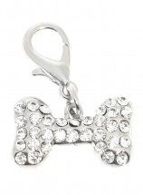 Swarovski Bone Dog Collar Charm (Available in 3 colours)
