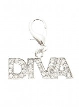 "Swarovski ""Diva"" Dog Collar Charm (Clear Crystals)"