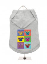 Urban Pup Pug Art Unisex Hoodie In Size XL (Available in 8 colours)