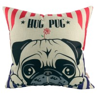Hug A Pug Cushion Cover