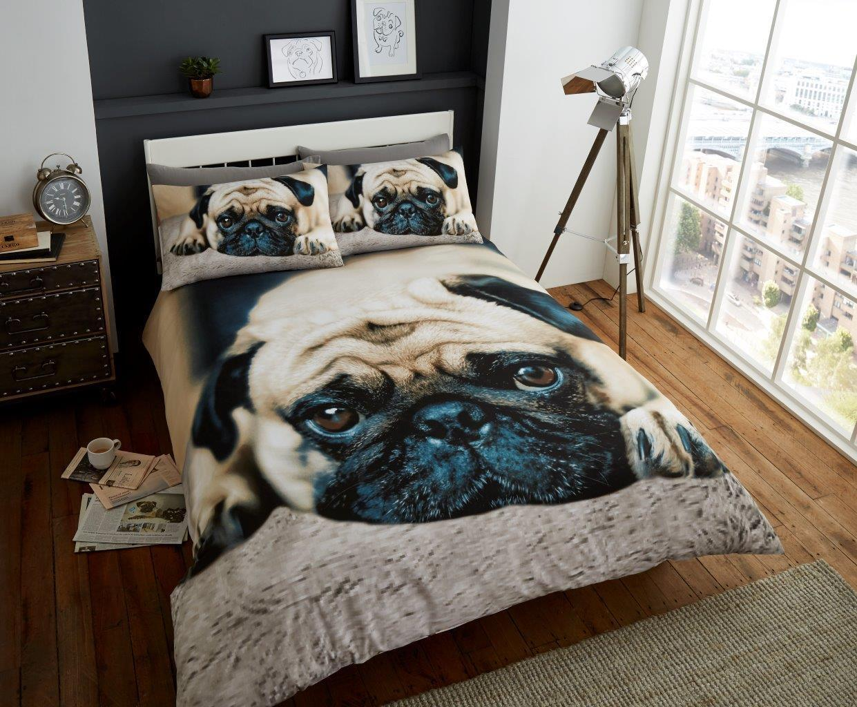 Sad Pug King Size Duvet Set I Love Pugs