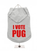 I Vote Pug Unisex Hoodie (Available in 9 colours)