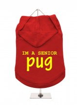 Senior Pug Unisex Hoodie (Available in 18 colours )