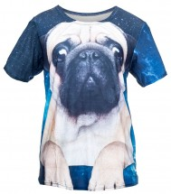 Ladies Galaxy Pug T-Shirt (One size fits all)