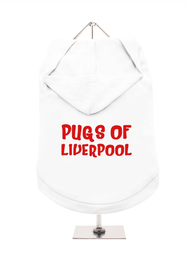 pugs of liverpool unisex hoodie  available in 5 colours