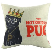 Notorious Pug Cushion Cover