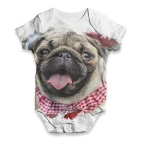 Pug Face Baby Grow Newborn -24 Months