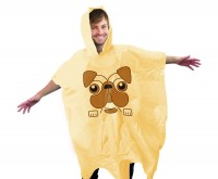 Pug Poncho One Size