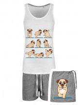 Pug Yoga Pjs In A Bag