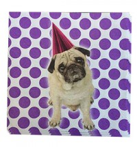 Pug Party Napkins Pack Of 10