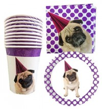Pug Party Set 10 Of Each Item *Special Offer*