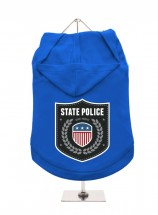Urban Pup State Police  Unisex Hoodie In Size XL