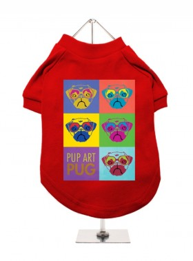Urban Pup pug Art Unisex T-Shirt In Size XL (Available in 6 colours)