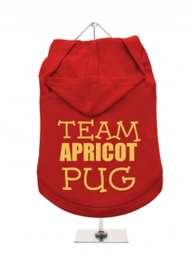Team Apricot Pug Unisex Hoodie (Available in 3 colours )