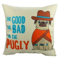 The Good The Bad & The Pugly Cushion Cover