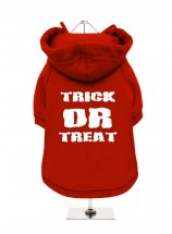 TRICK OR TREAT RED HOODED SWEATER