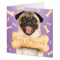 Well Done Pug Blank Card