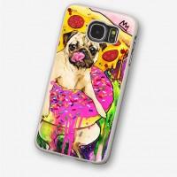 Pizza & Donut Pug Samsung Phone Cover