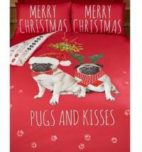 King Size Pug Christmas Duvet